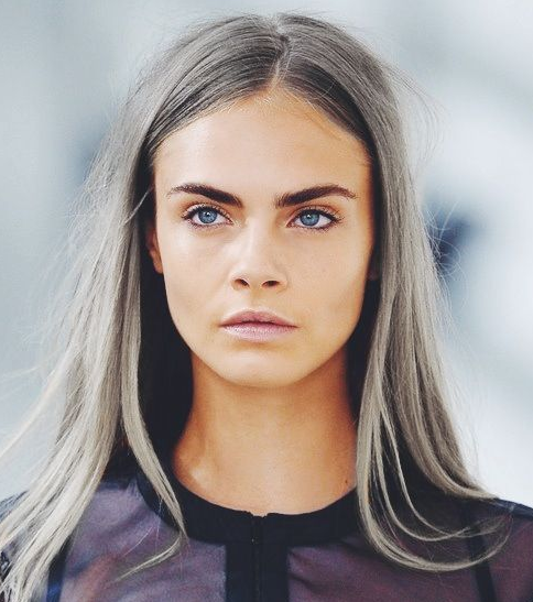 Grey Hair ~ Cara Delevigne