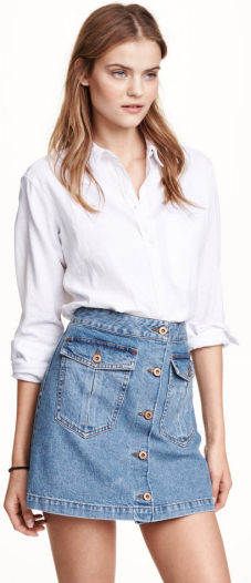 H&M ~ Mini Denim Skirt