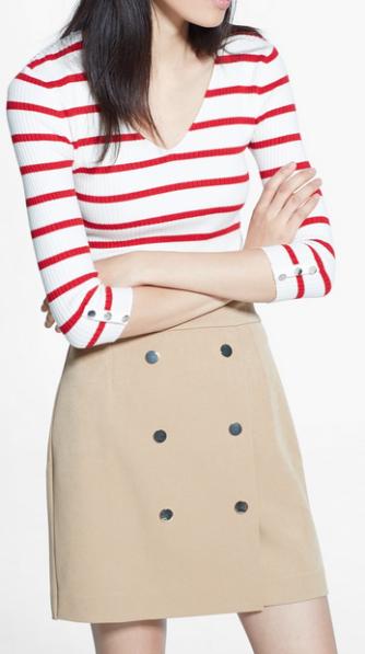Mango ~ Mini Double Breasted Skirt