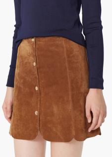 Mango ~ Mini Suede Skirt