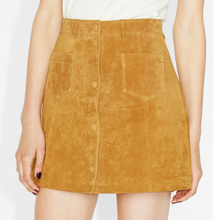 Monki ~ Mini Suede Skirt