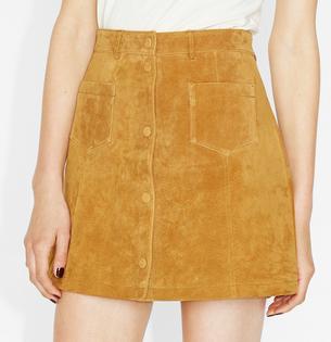Monki ~ Mini Suede Skirt