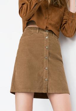 Zara ~ Midi Corduroy Skirt
