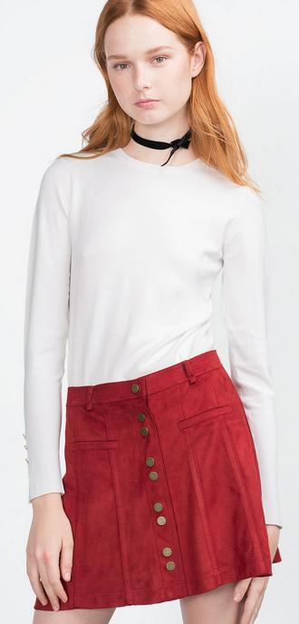 Zara ~ Mini Suede Skirt