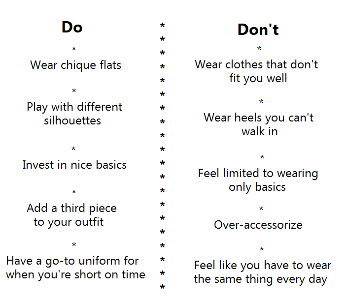 Do's and Don'ts on clothing etiquettes